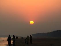 Praia em Digha Imagem de Stock