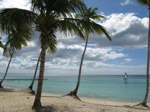 Praia em Dominicus, República Dominicana fotografia de stock