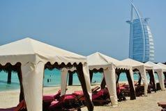 Praia em Dubai fotografia de stock