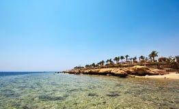 Praia em Egipto fotos de stock royalty free