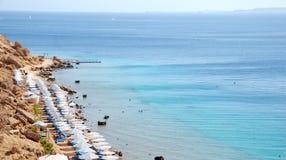 Praia em Egipto Fotografia de Stock Royalty Free