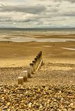A praia em Findhorn Imagem de Stock