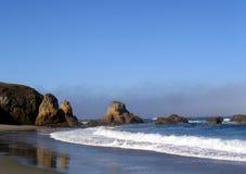Praia em Fort Bragg fotografia de stock