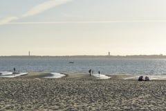 Praia em França na tarde fotos de stock royalty free