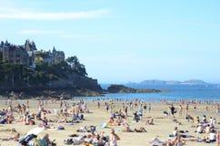 Praia em France fotografia de stock