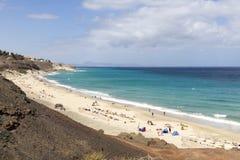 Praia em Fuerteventura Fotografia de Stock Royalty Free