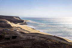 Praia em Fuerteventura Fotografia de Stock