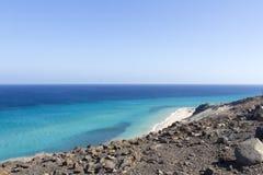 Praia em Fuerteventura Foto de Stock Royalty Free