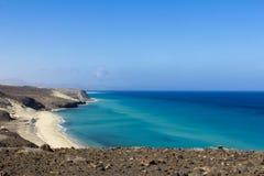 Praia em Fuerteventura Fotos de Stock