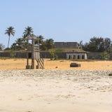Praia em Gâmbia Foto de Stock Royalty Free