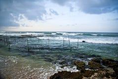 Praia em Galle Sri Lanka Imagem de Stock Royalty Free