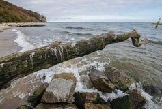 Praia em Gdynia Foto de Stock Royalty Free