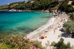Praia em Grécia foto de stock royalty free
