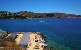 Praia em Grécia Fotos de Stock Royalty Free