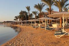 Praia em Hurghada, Egipto Imagem de Stock Royalty Free