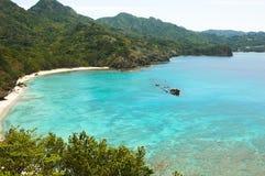 Praia em Japão do sul imagem de stock