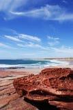 Praia em Kalbarri fotos de stock