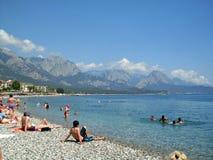 Praia em Kemer Turquia Fotografia de Stock