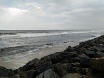 Praia em Kochi Foto de Stock Royalty Free