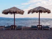 Praia em Lesbos Foto de Stock