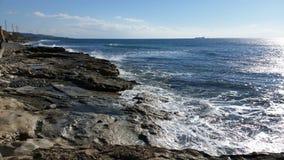 Praia em Limassol Amathounta Fotografia de Stock Royalty Free