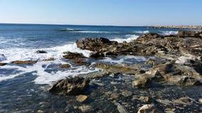 Praia em Limassol Amathounta Imagens de Stock