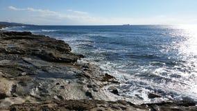 Praia em Limassol Amathounta Foto de Stock