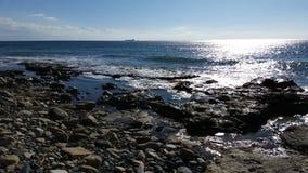 Praia em Limassol Amathounta Fotos de Stock