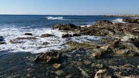 Praia em Limassol Amathounta Fotografia de Stock