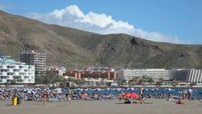 Praia em Los Cristianos, Tenerife, Espanha Fotografia de Stock Royalty Free