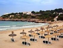 Praia em Majorca Foto de Stock Royalty Free