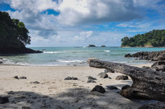Praia em Manuel Antonio National Park, Costa Rica foto de stock royalty free