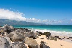 A praia em Maui, Havaí Imagens de Stock