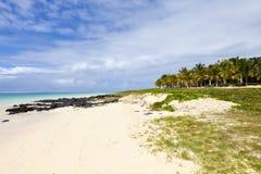 Praia em Maurícias Fotografia de Stock