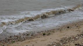 Praia em Mersea ocidental, Essex, Inglaterra 7 imagem de stock