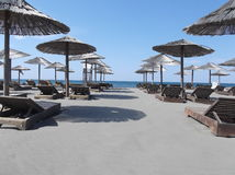Praia em Montenegro 2013 Fotografia de Stock