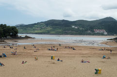 Praia em mundaka, Espanha Imagens de Stock