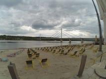 Praia em Novi Sad Imagens de Stock Royalty Free