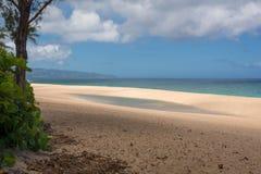 Praia em Oahu havaí Fotos de Stock