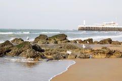 Praia em Oostende, Bélgica Fotografia de Stock Royalty Free