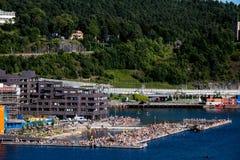 Praia em Oslo imagem de stock