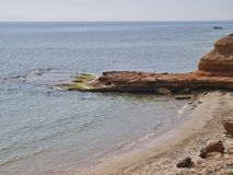Praia em Pilar de la Horadada Alicante Spain imagens de stock