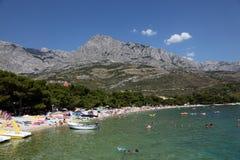 Praia em Promajna, Croatia Fotos de Stock Royalty Free