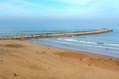 Praia em Rabat, Marrocos foto de stock