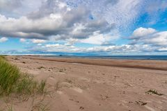 A praia em Ross Sands, Inglaterra, Reino Unido fotos de stock