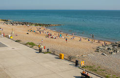 Praia em Rottingdean perto de Brigghton, Inglaterra fotografia de stock