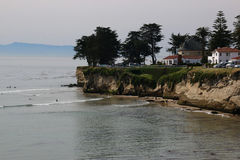 A praia em Santa Cruz Imagens de Stock Royalty Free