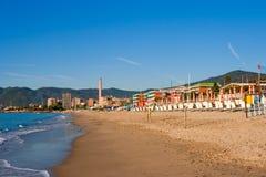 Praia em Savona. Italy fotografia de stock