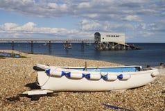Praia em Selsey. Sussex ocidental. Reino Unido Fotografia de Stock