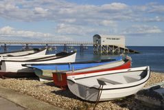 Praia em Selsey. Sussex ocidental. Reino Unido Imagens de Stock
